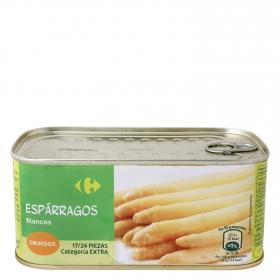 Espárragos blancos gruesos 17/24 Carrefour 425 g.