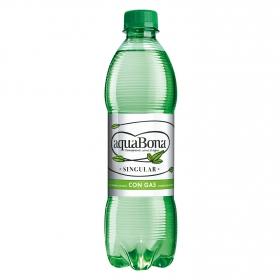 Agua mineral Aquabona natural con gas 50 cl.