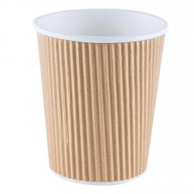 Vaso Compostable BETIK Corrugados - Beige