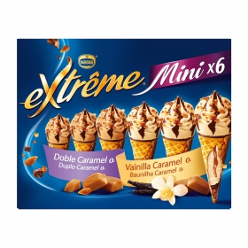 Mini conos helados extreme caramelo