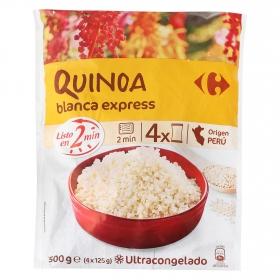 Quinoa blanca express Carrefour pack de 4 unidades de 125 g.