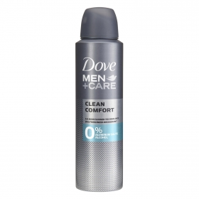 Desodorante Men + care Clean Comfort 0% aluminum salts alcohol Dove 150 ml.