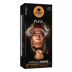 Café intens en cápsulas Origen & Sensations compatible con Nespresso 10 unidades de 5 g.