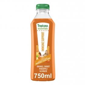 Zumo Tropicana Immune Support botella 75 cl.