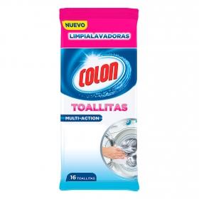 Limpia lavadoras toallitas multi acción Colon 16 ud.