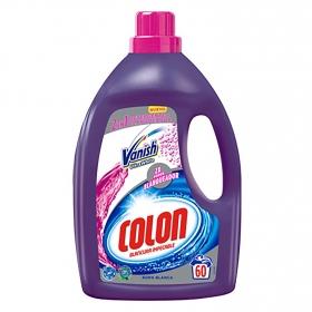 Detergente con quitamanchas líquido Vanish Colon 60 lavados.