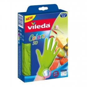 Guantes VILEDA Colors S/M 50 ud - Verde