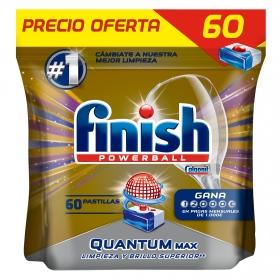 Lavavajillas máquina quantum max en pastillas Finish 60 ud.