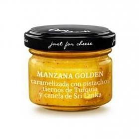 Maridaje quesos curados con manzana golden Just For Cheese tarro 30 g