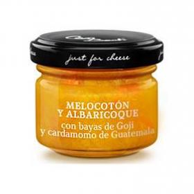 Maridaje quesos pasta blanda c/melocotón y albaricoque Just For Cheese tarro 30 g