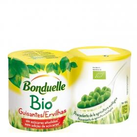 Guisantes bio sin azúcares añadidos ecológico Bonduelle pack de 2 unidades de 130 g.