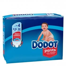 Pañales braguita Pants Dodot T4 (9kg-15kg) 34 ud.