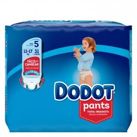 Pañales braguita Pants Dodot T5 (12kg-17kg) 31 ud.