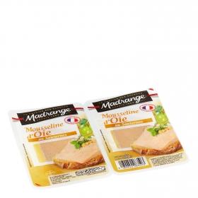 Mousse de foie Madrange pack de 2 unidades de 50 g.