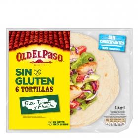 Tortillas mexicanas extra tiernas sin gluten