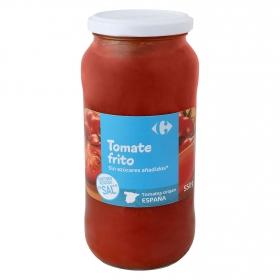 Tomate frito sin azúcares añadidos contenido reducido en sal Carrefour tarro 550 g.