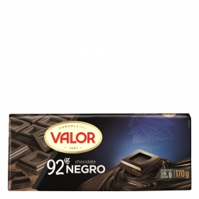 Chocolate negro 92% sin gluten Valor 170 g.