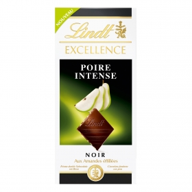 Chocolate negro intenso con pera Lindt Excellence 100 g.