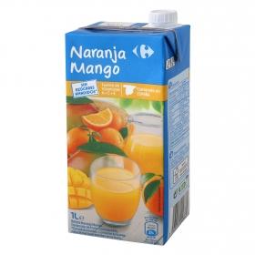 Bebida de naranja y mango Carrefour  sin azúcares brik 1 l.