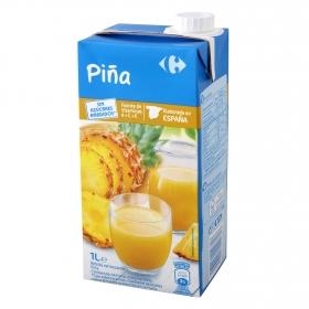 Bebida de piña Carrefour sin azúcar brik 1 l.
