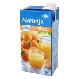 Bebida de naranja Carrefour sin azúcar añadido brik 1 l.