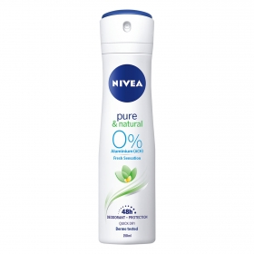 Desodorante roll-on pure & natural 0% aluminium Nivea 50 ml.