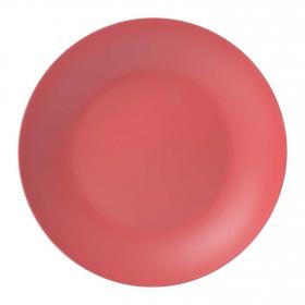 Plato Hondo Bambú 20,5 cm Rojo