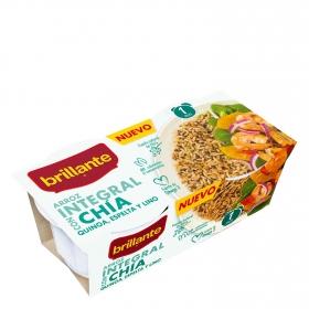 Arroz integral con chía para microondas Brillante pack de 2 ud. de 125 g.