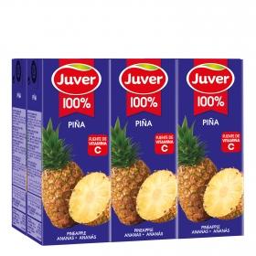 Zumo de piña Juver pack de 6 briks de 20 cl.