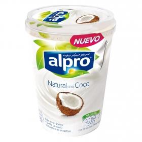 Yogur natural sin lactosa con soja y coco