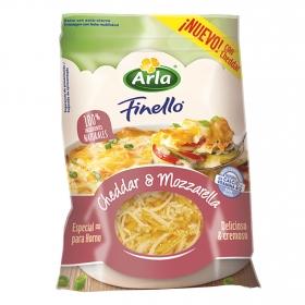 Queso rallado cheddar y mozzarella Finello Arla 150 g.