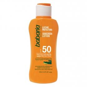 Leche protectora solar aloe spf 50