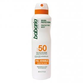 Bruma protectora solar piel sensible spf 50