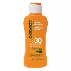 Leche protectora solar aloe SPF 30 Babaria 100 ml.