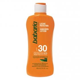 Leche protectora solar aloe spf 30