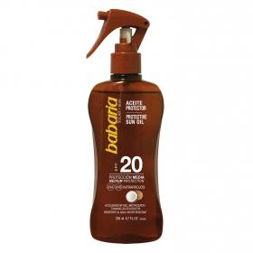 Aceite protector solar coco SPF 20 Babaria 200 ml.