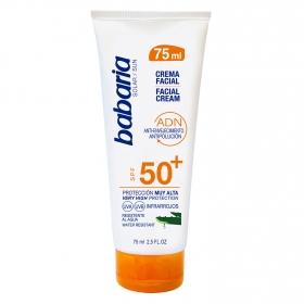 Crema solar cara anti-envejecimiento SPF 50+ Babaria 75 ml.