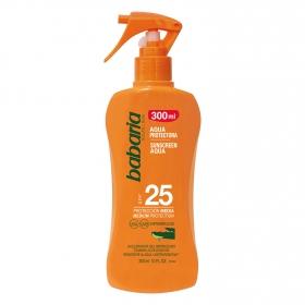 Aqua protectora solar aloe SPF 25 Babaria 300 ml.