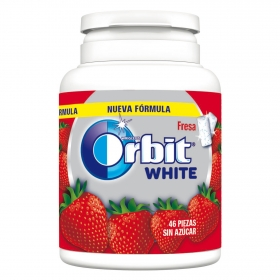 Chicles sabor fresa White Orbit 46 ud.