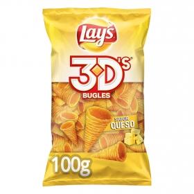 Conos de maíz 3D's sabor queso