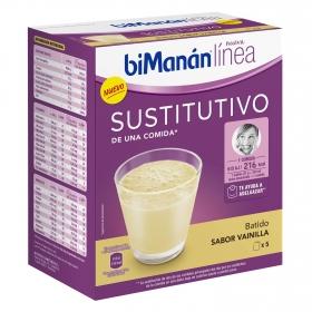 Batido sustitutivo de vainilla Bimanán pack de 5 sobres de 37 g.