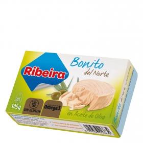 Bonito del norte en aceite de oliva Ribeira sin gluten 72 g.