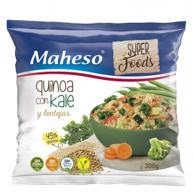 Quinoa con kale y lentejas Maheso 300 g.
