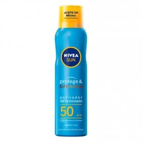 Aceite solar en bruma Protege & Broncea FP 50 Nivea Sun 200 ml.
