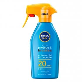 Spray solar Protege & Broncea FP 20 Nivea Sun 300 ml.
