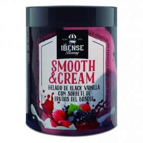 Helado de Black vainilla con sorbete de frutos del bosque Smooth&Cream