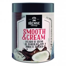 Helado de crema de chocolate con sorbete de coco Smooth&Cream