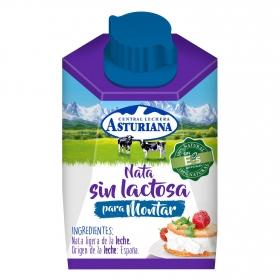 Nata para montar Central Lechera Asturiana sin lactosa 200 ml.