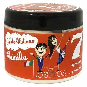 Helado italiano de vainilla Los Lositos 250 g.