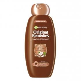 Champú de aceite de coco y manteca de cacao Original Remedies Garnier 600 ml.